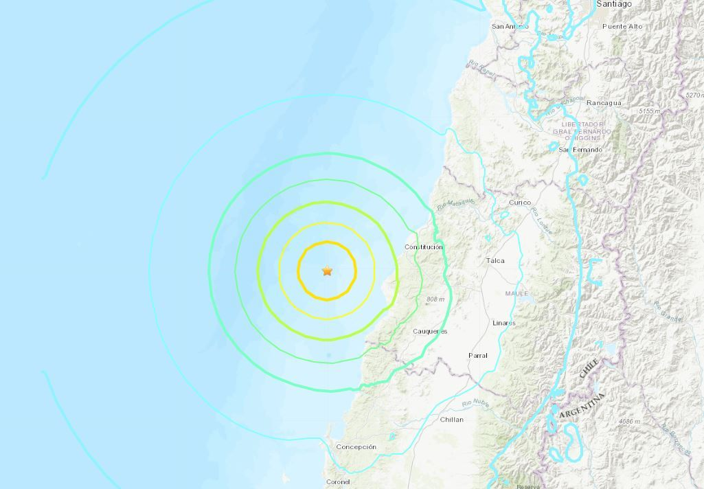 el temblor en chile