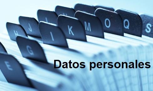 Datos personales como el RUT